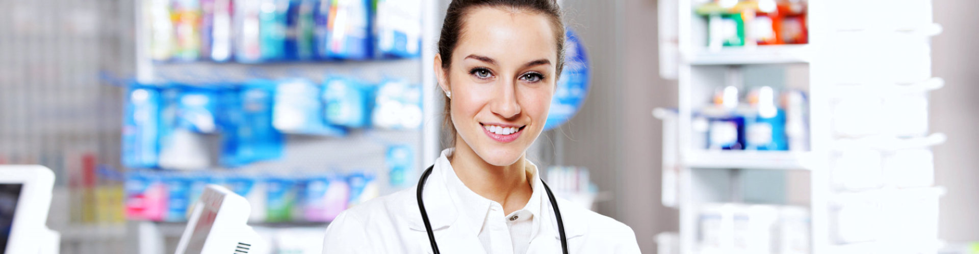 female pharmacist smiling