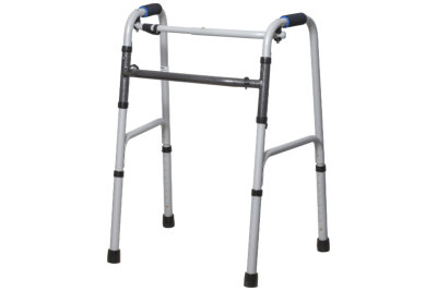 Universal walker for the elderly isolated on a white background.