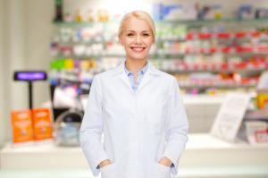 female pharmacist smiling